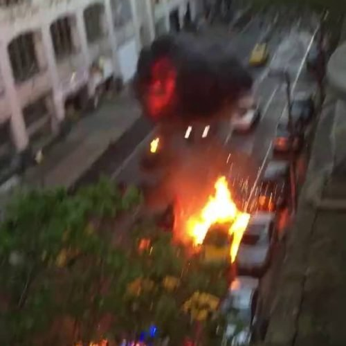 Desde su balcón graba una impresionante escena de Fast and Furious 8
