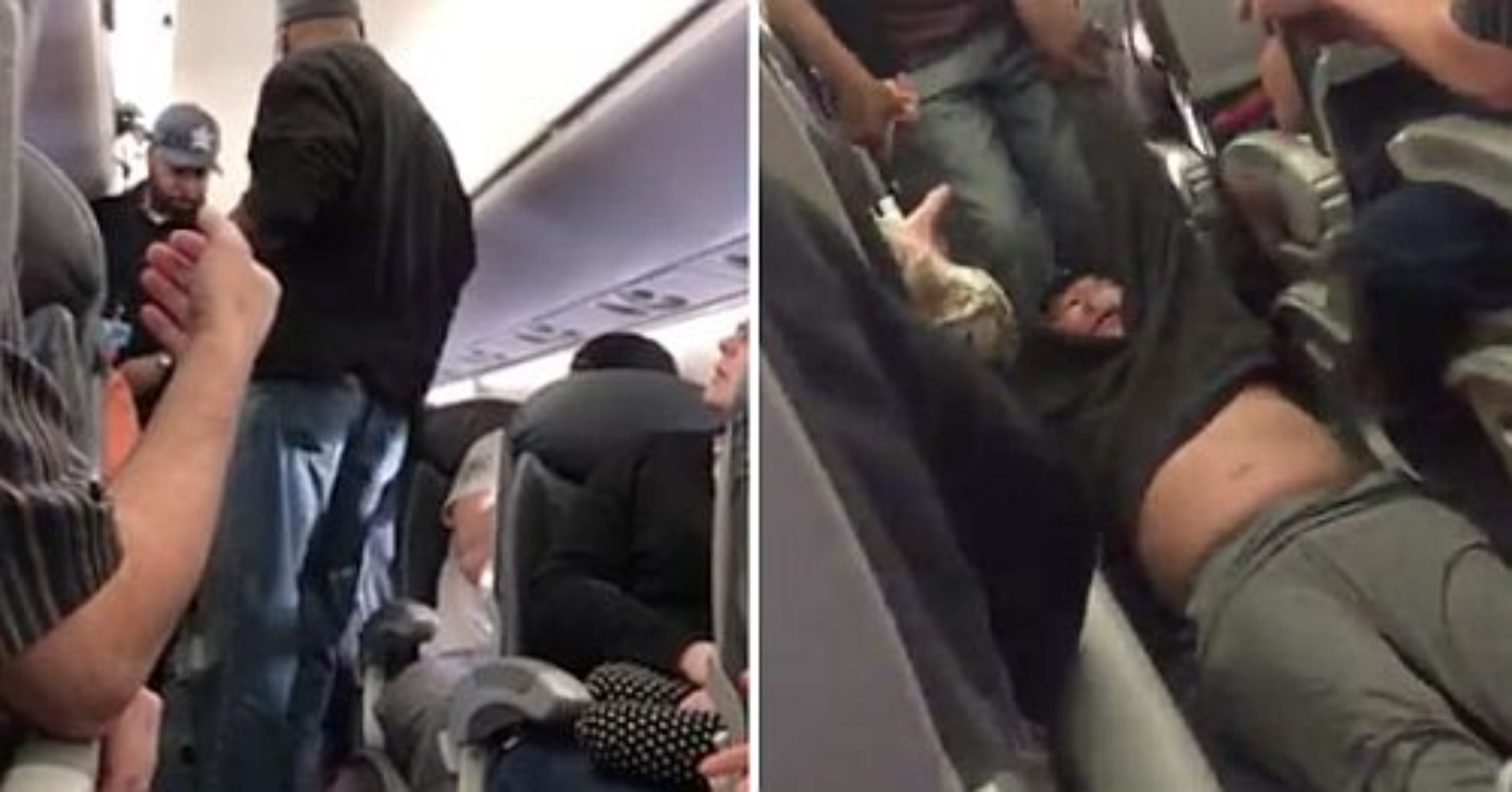 Echan a la fuerza a una persona escogida al azar de United Airlines