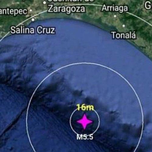 Sismo mayor a 5 grados sacude Chiapas