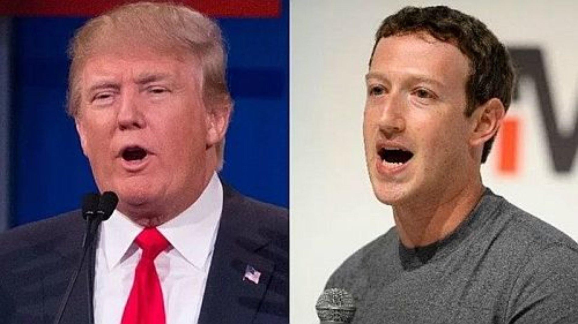 Ataca Trump a Facebook y Zuckerberg contesta