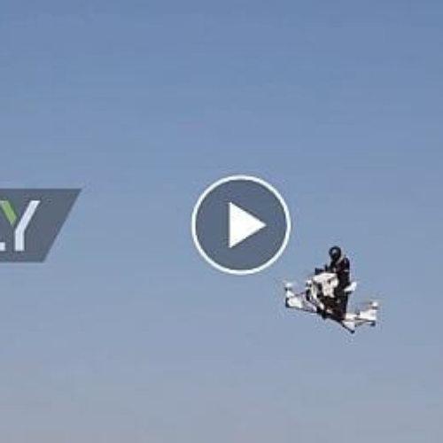 Increible motodrone para los policias de Dubai