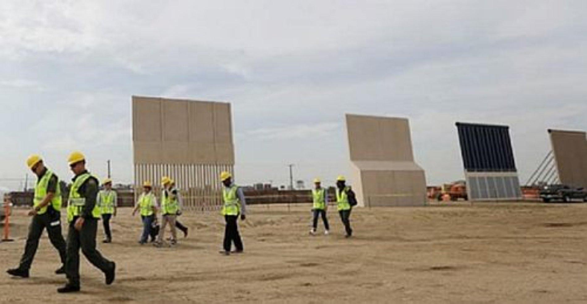 A pesar de que el Congreso de EU no destinó recursos, prototipos de muro fronterizo casi están listos