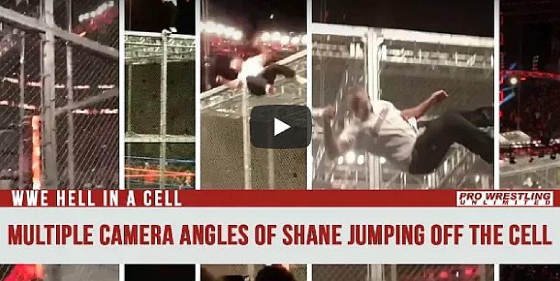 Salta Shane McMahon WWE desde lo alto de la jaula y se hace añicos
