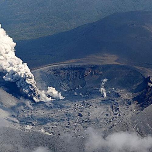 Vídeo del impresionante despertar de un volcán Japones tras seis años de sueño