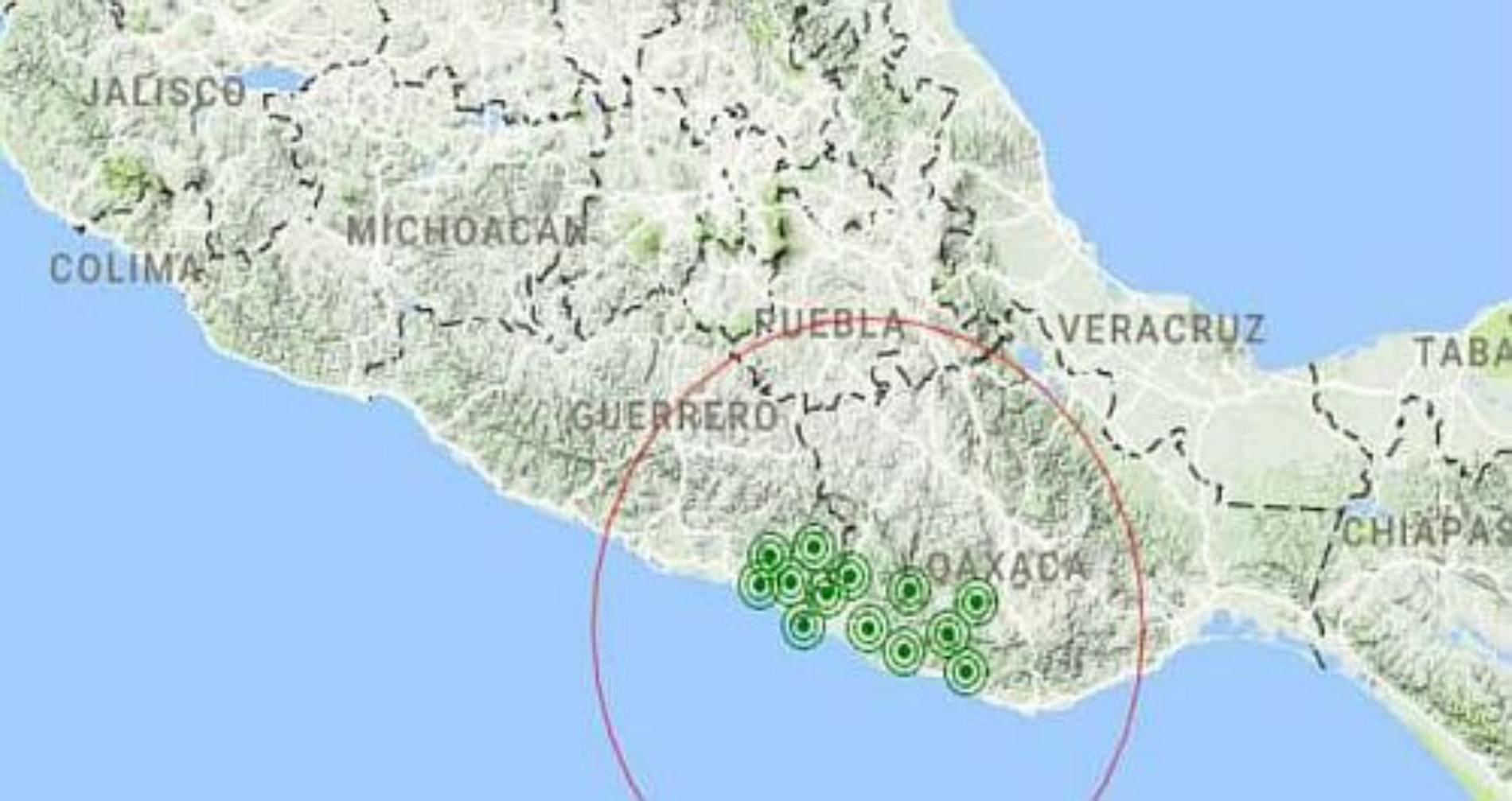 No deja de temblar en Oaxaca; se registra temblor de 5.1 en Pinotepa Nacional