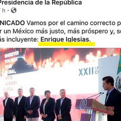 Presidencia emite comunicado oficial y lo firma como Enrique Iglesias