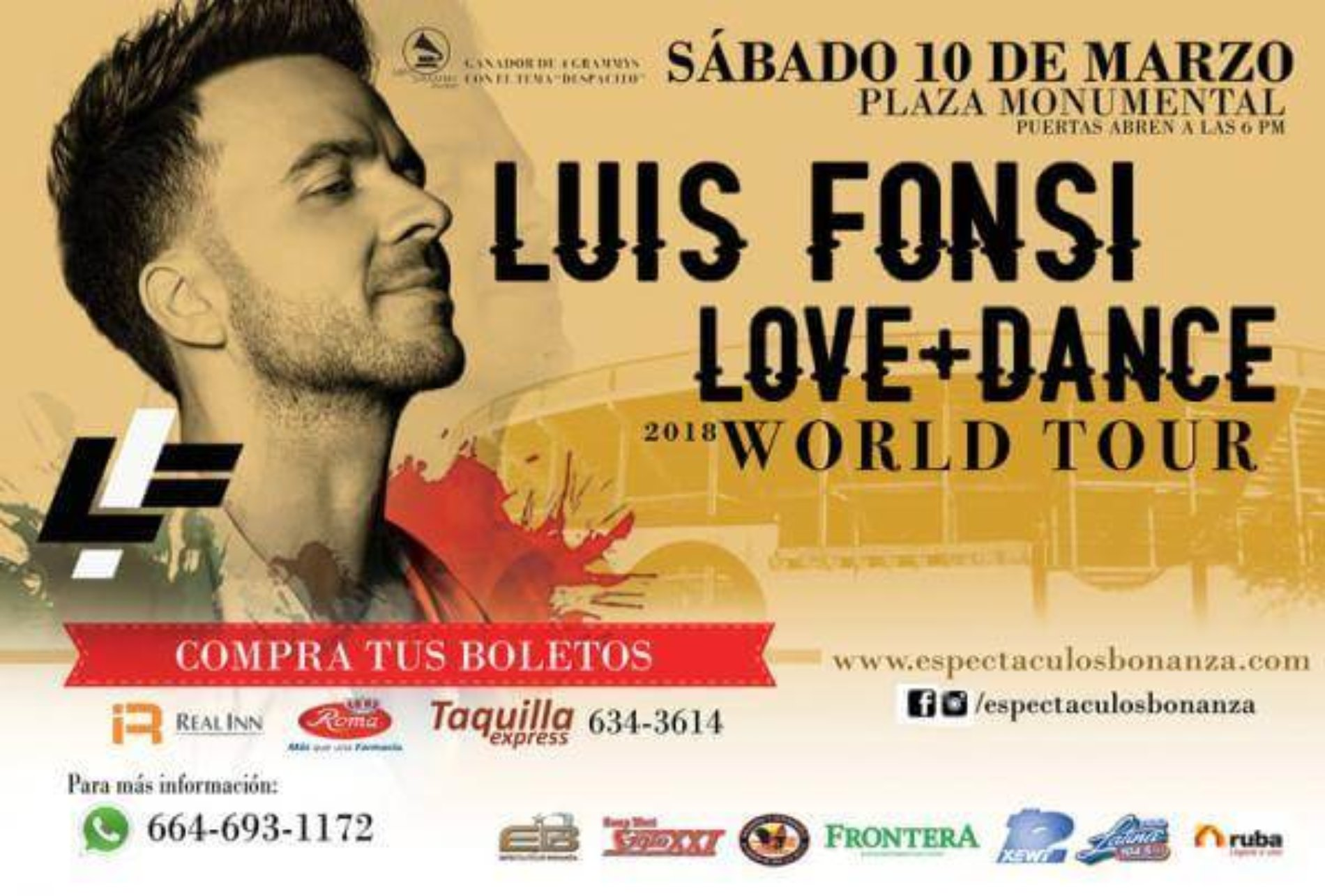 Luis Fonsi en Tijuana 2018