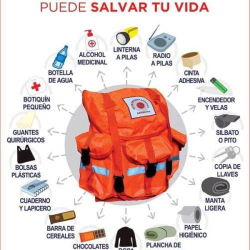 Siempre ten preparada una mochila de emergencia en caso de sismos o cualquier otro desastre