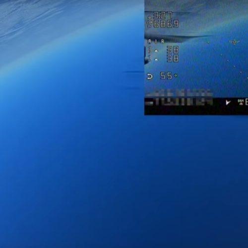 Increibles tomas de un drone a 10 kilómetros de altura