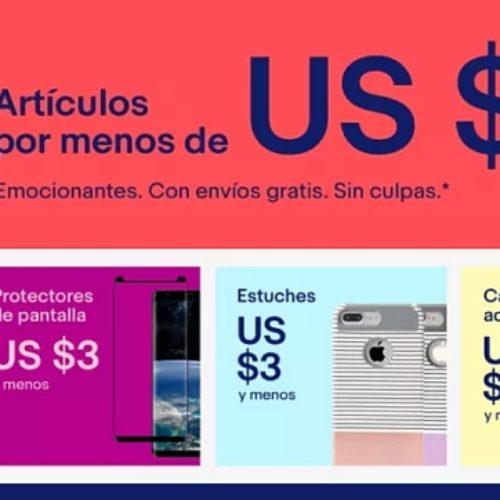 Sitio de eBay con artículos por menos de $10 dólares ¡Envío gratis a México!
