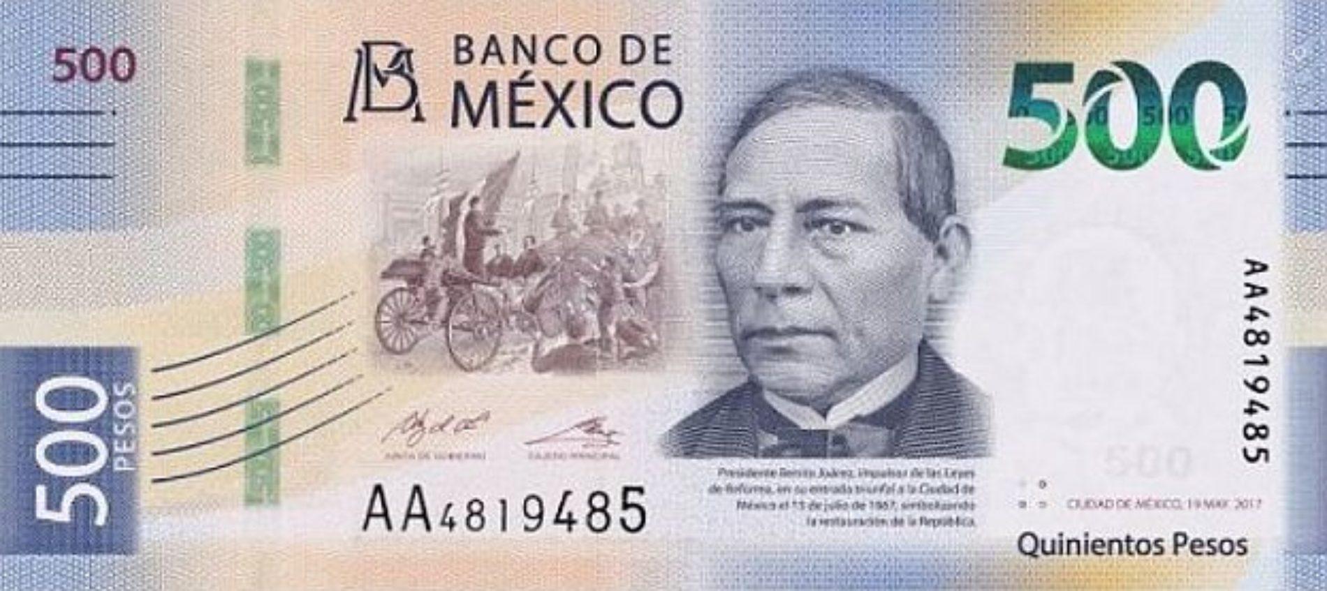 Ahora Benito Juárez aparecerá en los billetes de 500 pesos