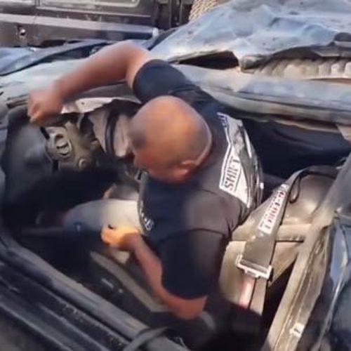 Esto es pasa cuando se te revienta un neumático circulando a 310 km/h en un Camaro SS